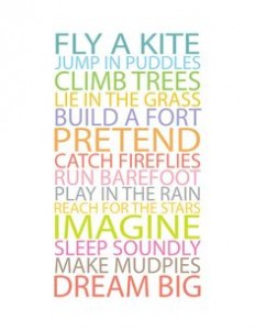 You can't help but smile when you read this and IMAGINE or remember actually doing it!